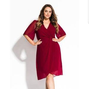 City Chic Twist Love Chiffon Dress